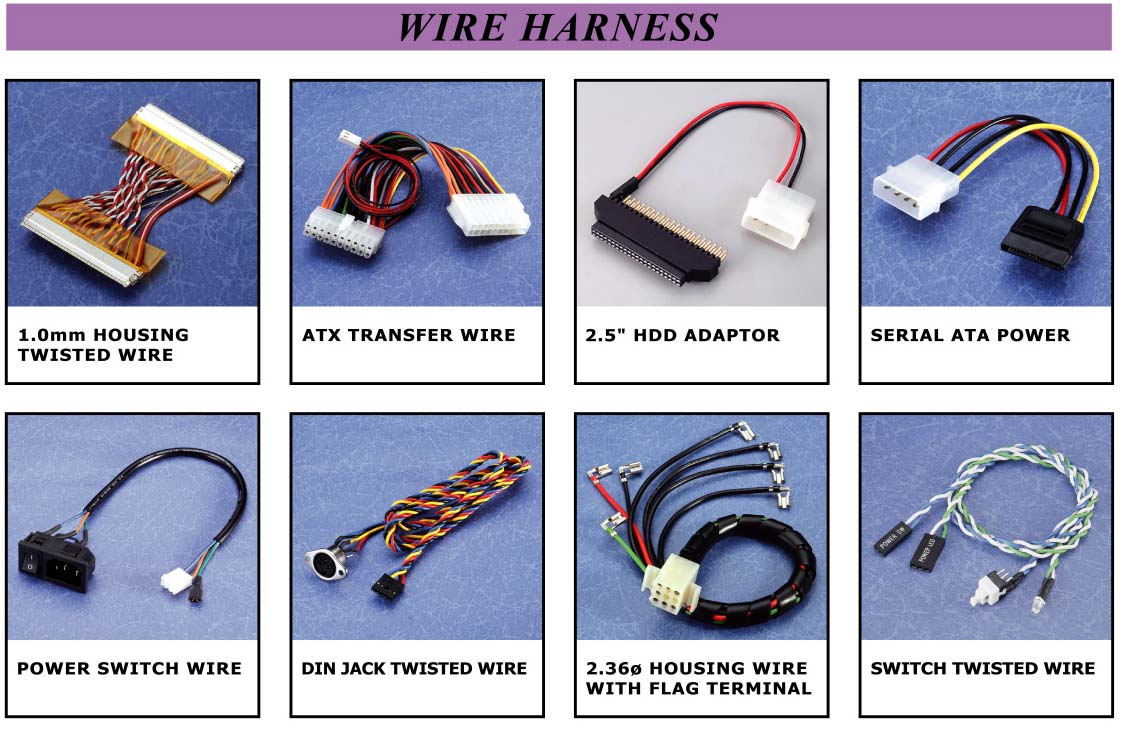 Connector, CableAssembly, WireHarness, PowerBank, WebCam